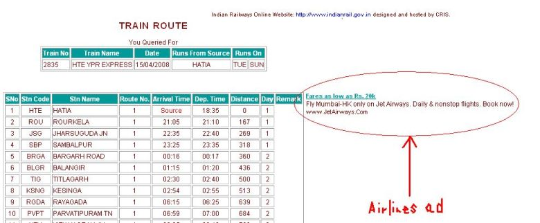Indian Railways goof-up