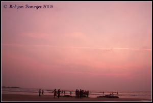 Gokarna Beach at Dusk