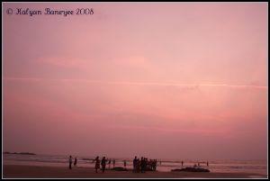 Gokarna Beach at Dusk