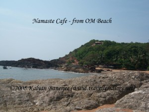 Namaste Cafe from Om beach