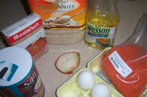 Ingredients for Microwave Khichdi