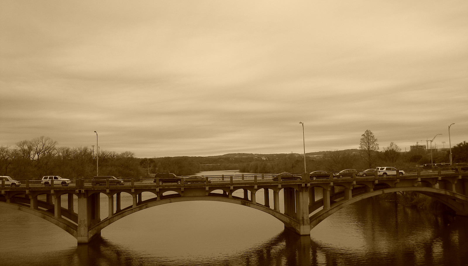 Here's its sepia look: